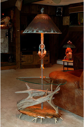 Southwest decorantler chandeliersantler lightunique lamps southwestern floor lamp with shade mozeypictures Images